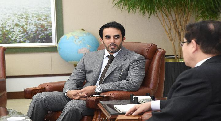 A visit by Abdullah Ghurair Al Qubaisi, Deputy Director-General of the Abu Dhabi Chamber of Commerce